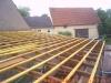 Hier entsteht eine Blechdach-Unterkonstruktion durch die Zimmerei & Dachdeckerei Oliver Frank aus Viereth bei Bamberg
